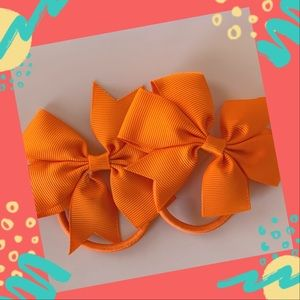 👶5/$25 Orange Elastic Hair Ties Ponytail Holder